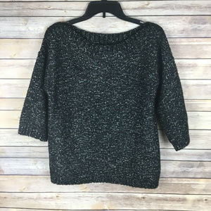 Banana Republic Medium Black White Sweater Alpaca